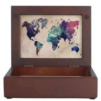 world map 10 keepsake box