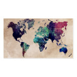 world map 10 pack of standard business cards