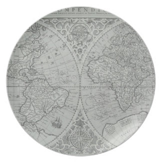 World Map 10 Plate