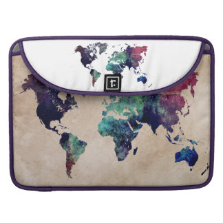 world map 10 sleeve for MacBook pro