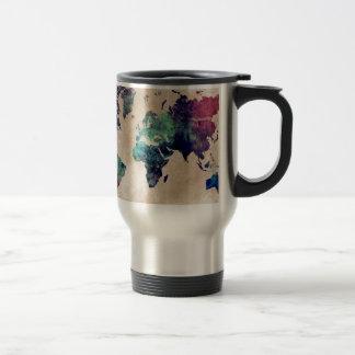 world map 10 travel mug
