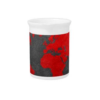 world map 11 beverage pitchers