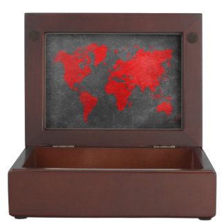 world map 11 keepsake box