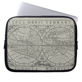World Map 11 Laptop Sleeve