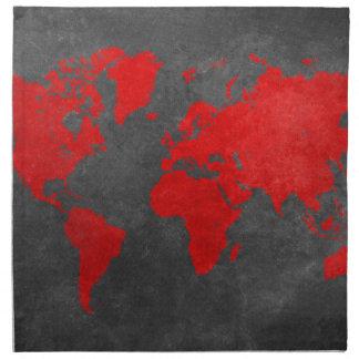 world map 11 napkin