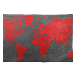 world map 11 placemat