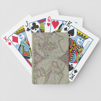 World Map 12 Bicycle Playing Cards