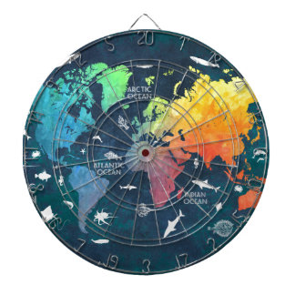 world map 12 dartboard