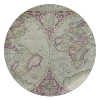 World Map 12 Party Plate