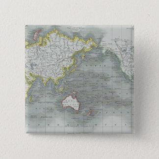 World Map 13 15 Cm Square Badge