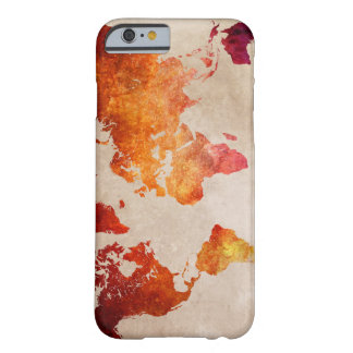 world map 13 barely there iPhone 6 case