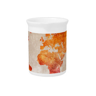 world map 13 pitcher