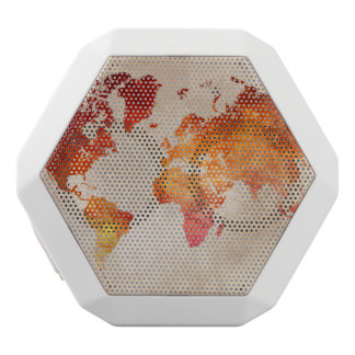 world map 13 white bluetooth speaker