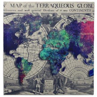 world map 15 napkin