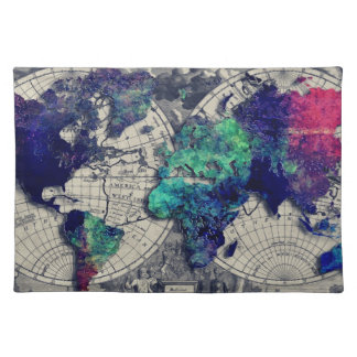 world map 15 placemat