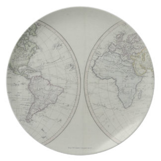 World Map 15 Plate