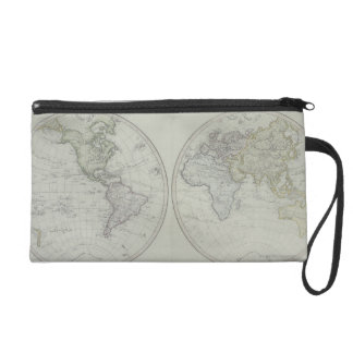 World Map 15 Wristlet