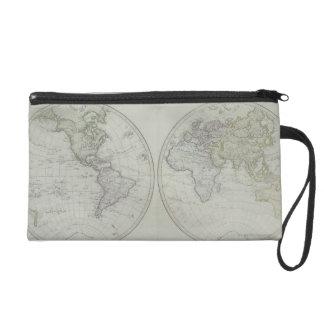 World Map 15 Wristlets
