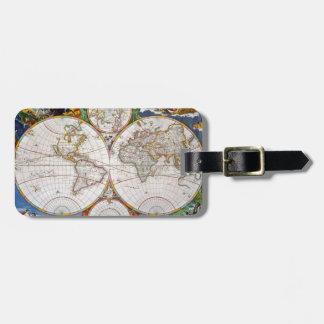WORLD MAP, 17th CENTURY Bag Tag
