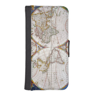 WORLD MAP, 17th CENTURY iPhone SE/5/5s Wallet Case