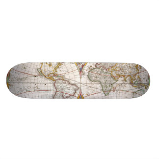 WORLD MAP, 17th CENTURY Skate Boards