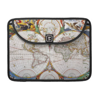 WORLD MAP, 17th CENTURY Sleeves For MacBook Pro