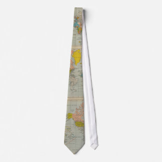 World Map 1910 Tie