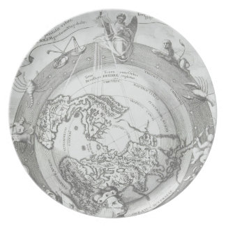 World Map 2 Dinner Plate
