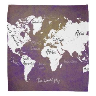 world map 2 head kerchiefs