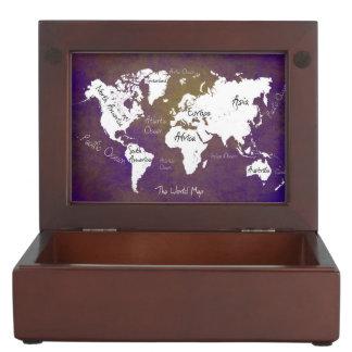 world map 2 keepsake box