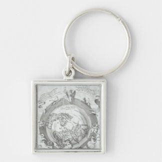 World Map 2 Key Ring