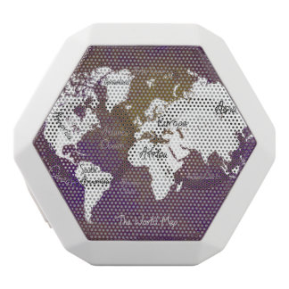 world map 2 white bluetooth speaker