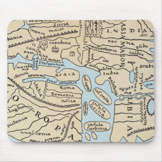 WORLD MAP 2ND CENTURY MOUSE PAD