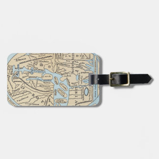 WORLD MAP 2ND CENTURY TAG FOR LUGGAGE