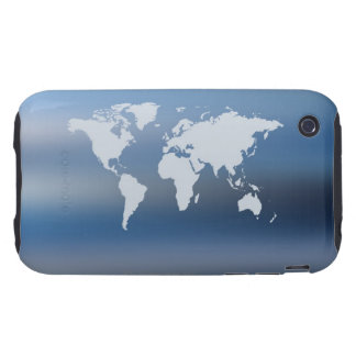 World Map 4 iPhone 3 Tough Cases