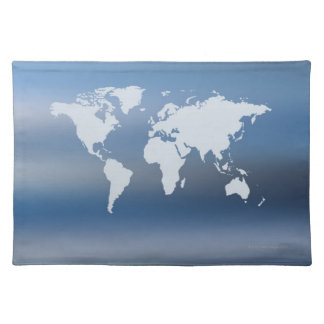 World Map 4 Placemat