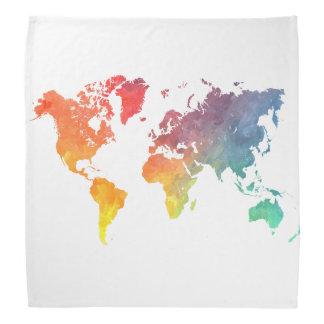 world map 5 bandanna