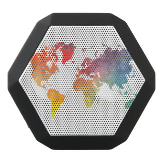 world map 5 black bluetooth speaker