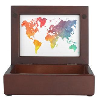 world map 5 keepsake box