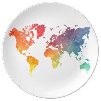 world map 5 plate