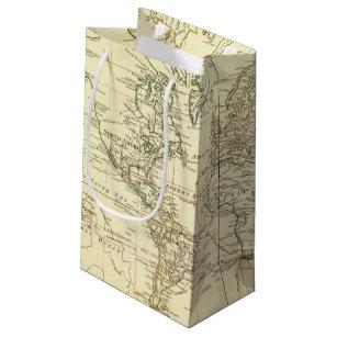 World Map Gift Bags.World Map Gift Bags Zazzle Co Uk