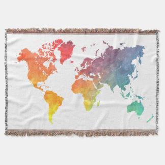 world map 5 throw blanket