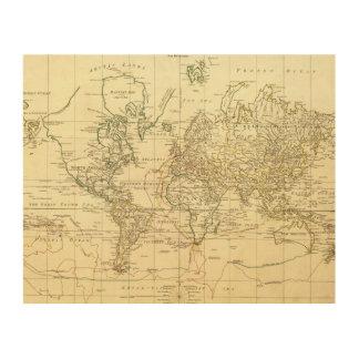 World Map 5 Wood Print