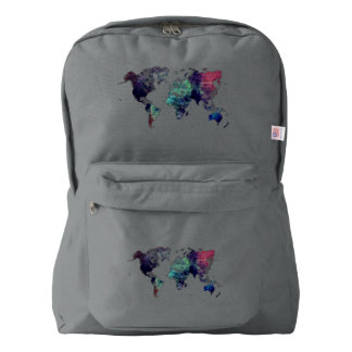 world map 6 backpack
