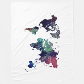 world map 6 fleece blanket