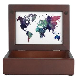 world map 6 keepsake box