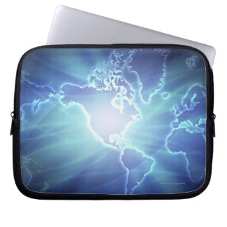 World Map 6 Laptop Sleeve