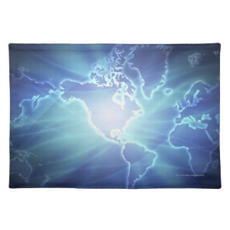 World Map 6 Placemat