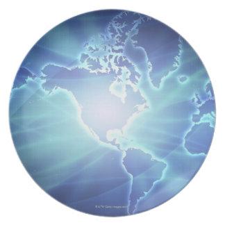World Map 6 Plate