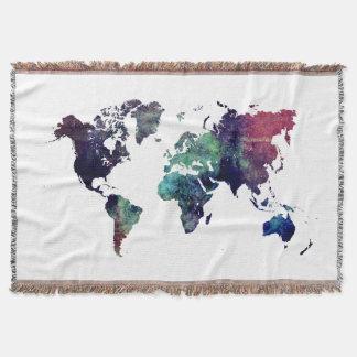 world map 6 throw blanket